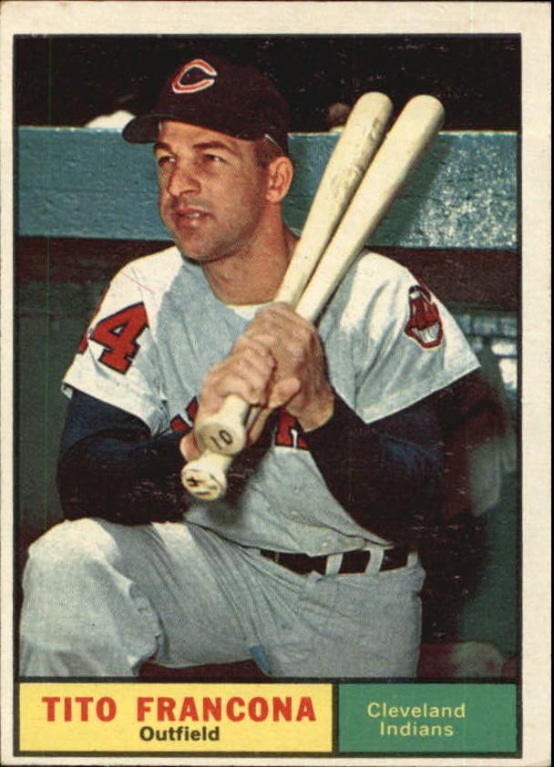 1961 Topps #503 Tito Francona