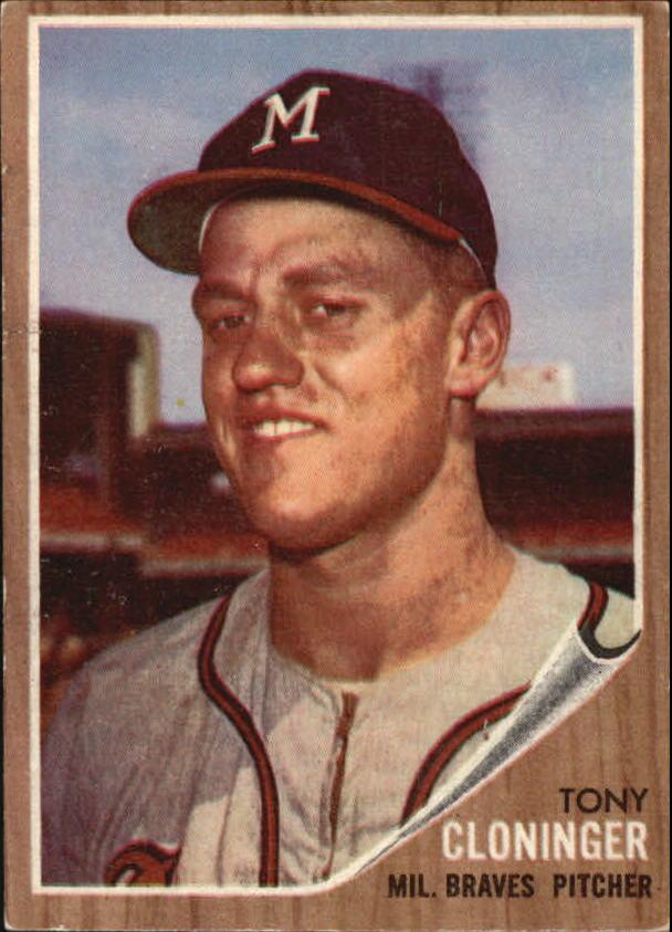 1962 Topps #63 Tony Cloninger RC