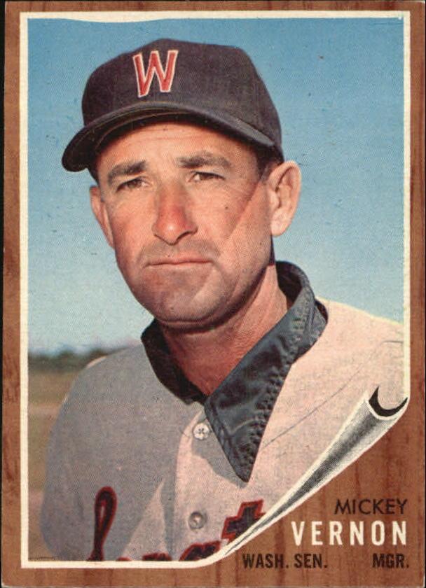 1962 Topps #152 Mickey Vernon MG