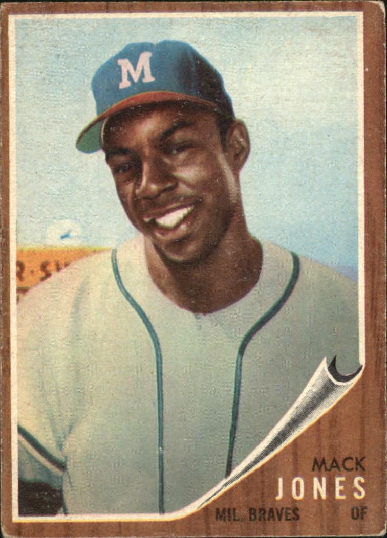 1962 Topps #186A Mack Jones/Green Tint