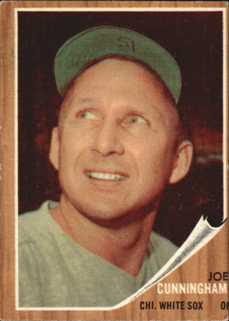 1962 Topps #195A Joe Cunningham/Green Tint
