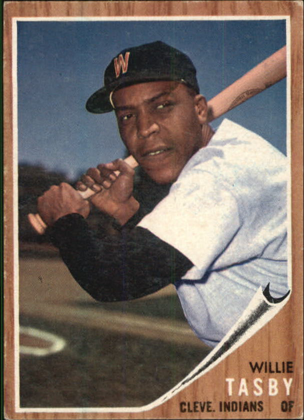 1962 Topps #462A Willie Tasby W on Cap