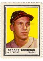 1962 Topps Stamps #8 Brooks Robinson