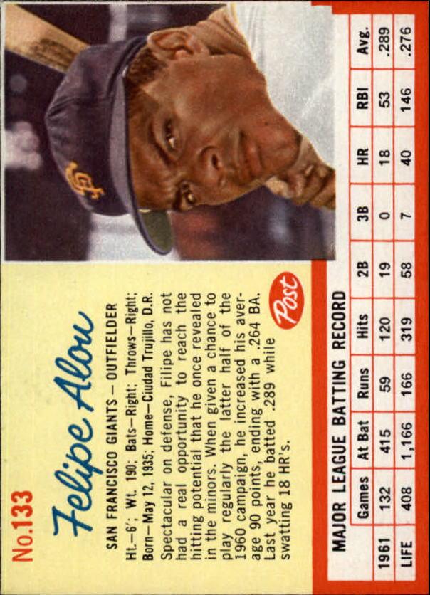 1962 Post #133 Felipe Alou UER