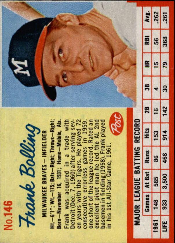 1962 Post #146 Frank Bolling