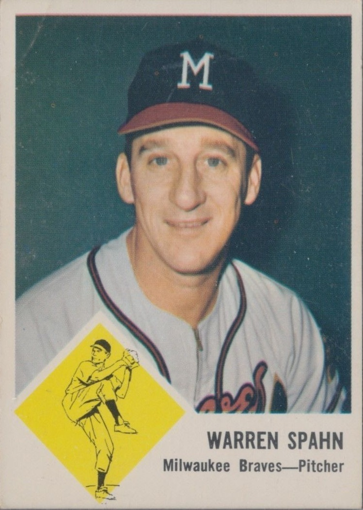 1963 Fleer #45 Warren Spahn