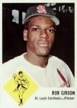 1963 Fleer #61 Bob Gibson