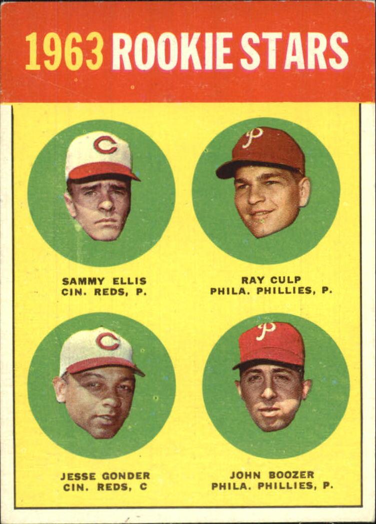 1963 Topps #29B Rookie Stars 1963/Sammy Ellis RC/Ray Culp/John Boozer RC/Jesse Gonder RC