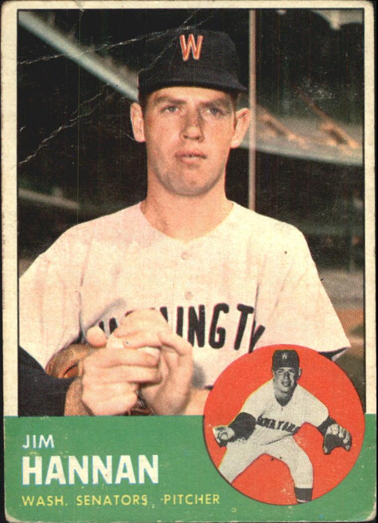 1963 Topps #121 Jim Hannan RC
