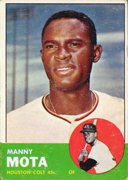 1963 Topps #141 Manny Mota RC