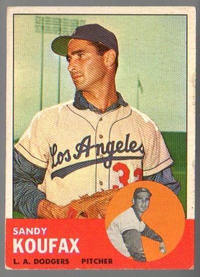 1963 Topps #210 Sandy Koufax