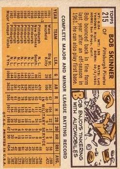 1963 Topps #215 Bob Skinner back image