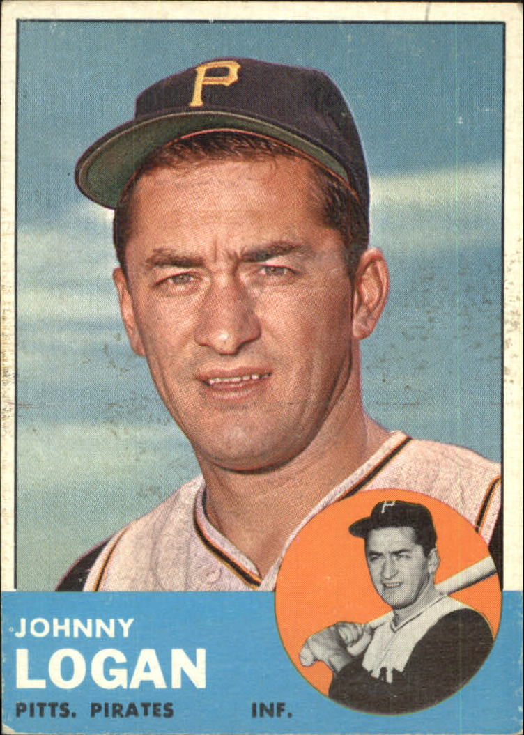 1963 Topps #259 Johnny Logan