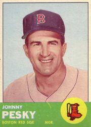 1963 Topps #343 Johnny Pesky MG