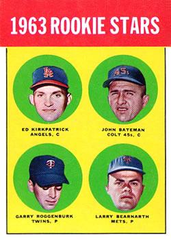 1963 Topps #386 Rookie Stars/Ed Kirkpatrick RC/John Bateman RC /Larry Bearnarth RC/Garry Roggenburk RC