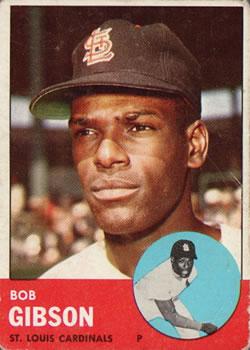 1963 Topps #415 Bob Gibson