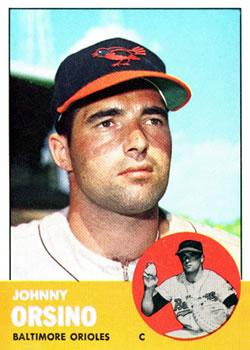 1963 Topps #418 John Orsino