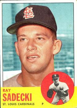 1963 Topps #486 Ray Sadecki
