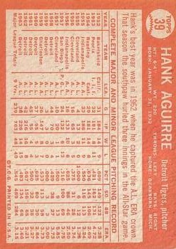 1964 Topps #39 Hank Aguirre back image