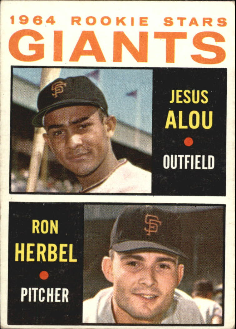 1964 Topps #47 Rookie Stars/Jesus Alou RC/Ron Herbel