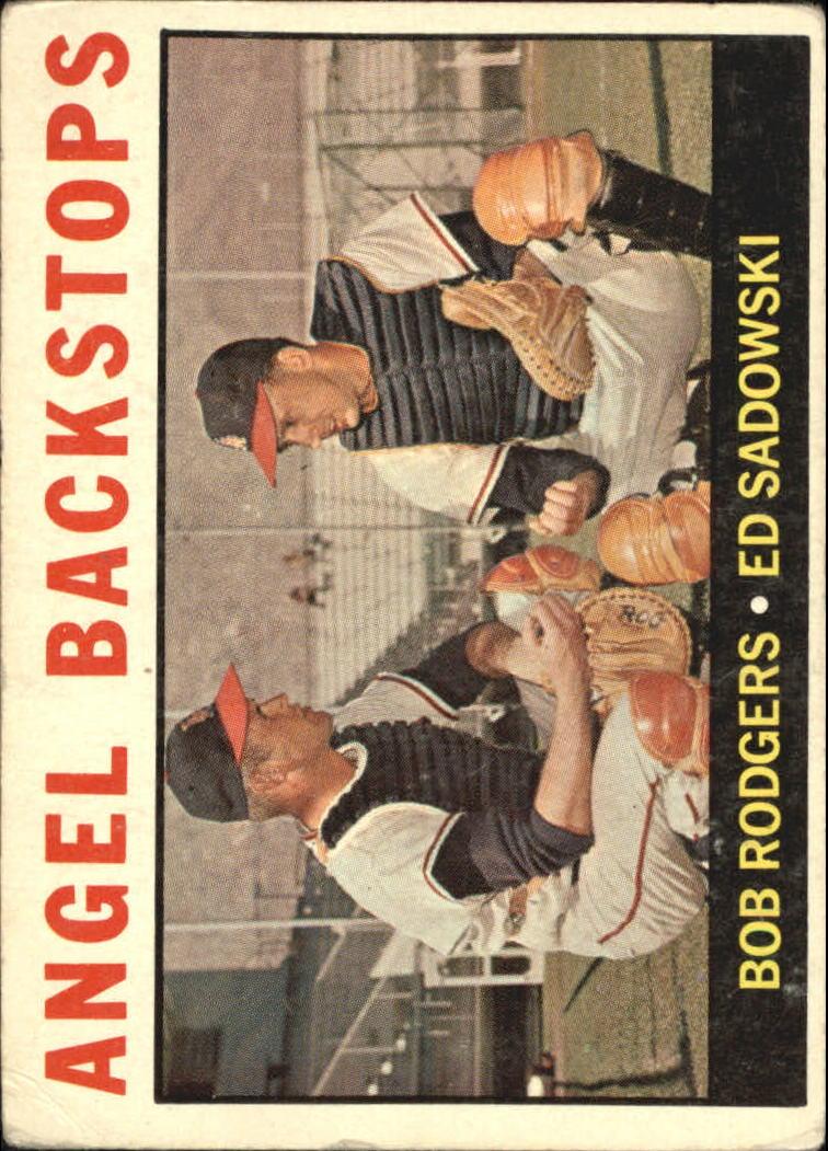 1964 Topps #61 Angel Backstops/Bob Rodgers/Ed Sadowski