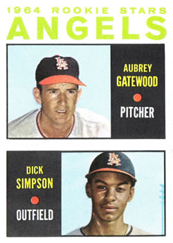 1964 Topps #127 Rookie Stars/Aubrey Gatewood RC/Dick Simpson