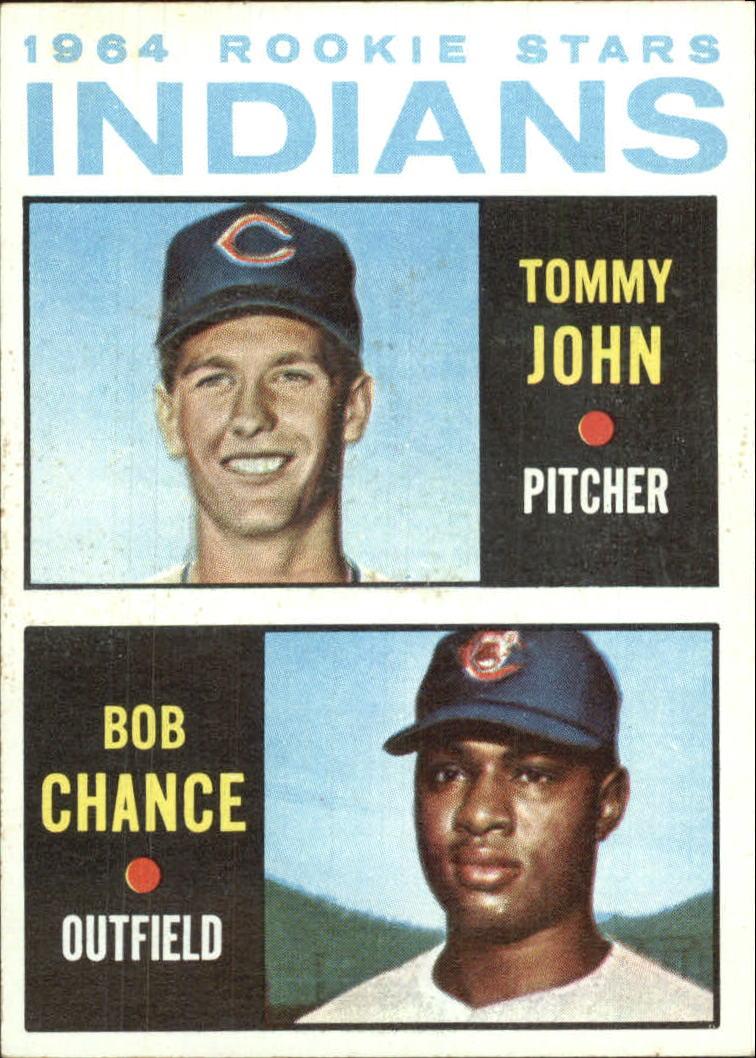 1964 Topps #146 Rookie Stars/Tommy John RC/Bob Chance RC