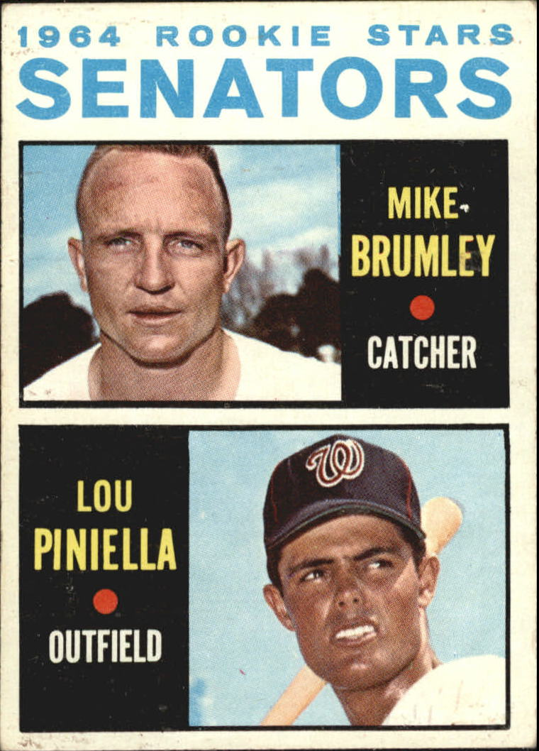 1964 Topps #167 Rookie Stars/Mike Brumley RC/Lou Piniella RC