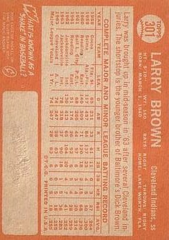 1964 Topps #301 Larry Brown RC back image