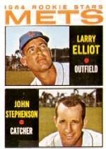 1964 Topps #536 Rookie Stars/Larry Elliot/John Stephenson RC