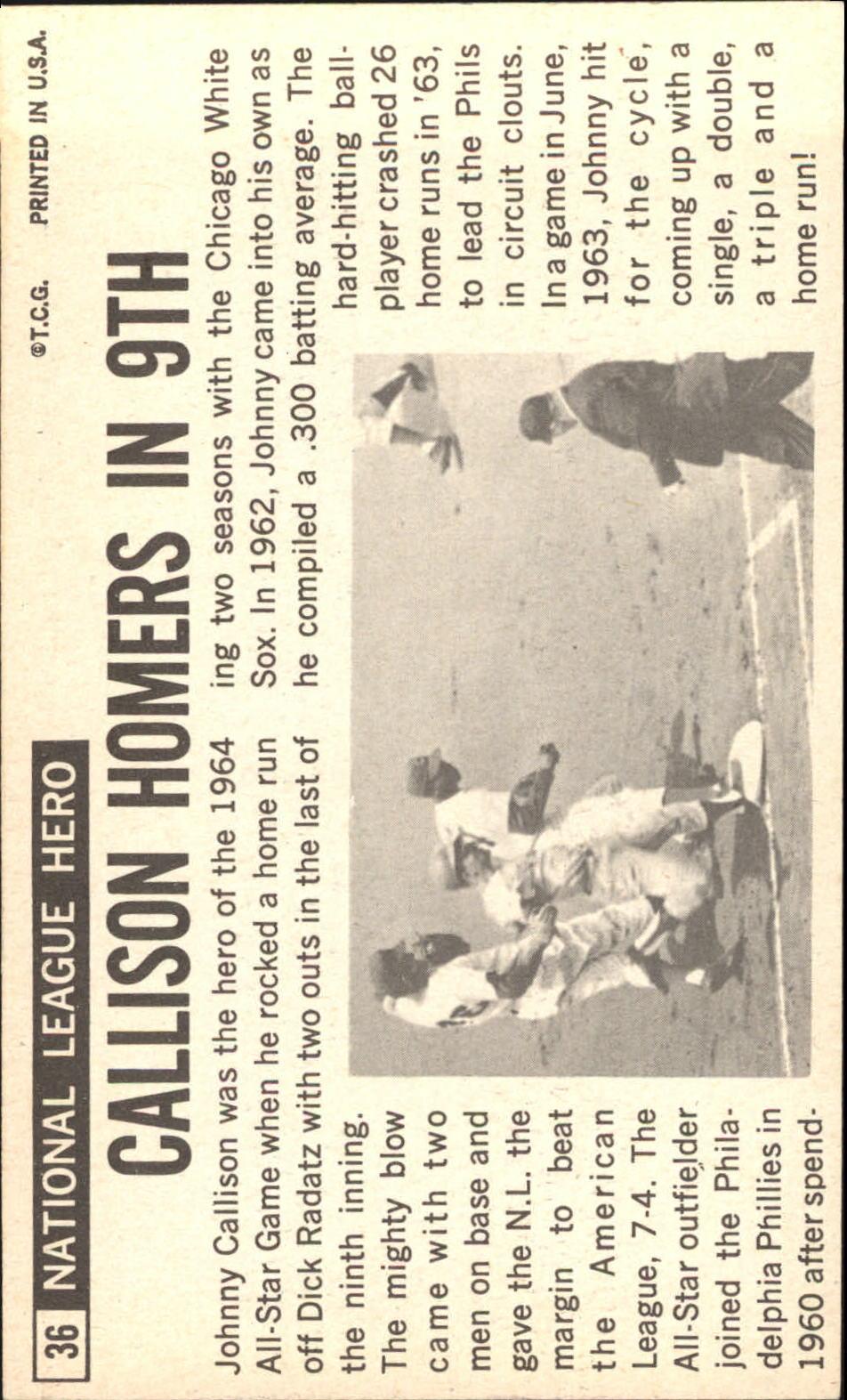 1964 Topps Giants #36 Johnny Callison back image