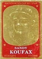 1965 Topps Embossed #8 Sandy Koufax