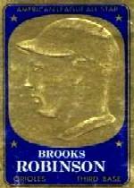 1965 Topps Embossed #16 Brooks Robinson