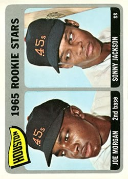 1965 Topps #16 Rookie Stars/Joe Morgan RC/Sonny Jackson RC DP