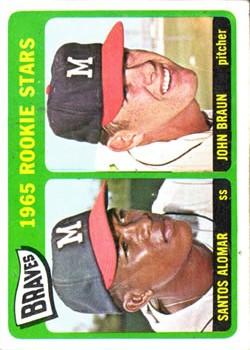1965 Topps #82 Rookie Stars/Santos Alomar RC/John Braun RC