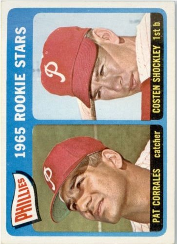1965 Topps #107 Rookie Stars/Pat Corrales RC/Costen Shockley RC