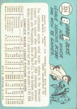 1965 Topps #324 Bobby Locke back image