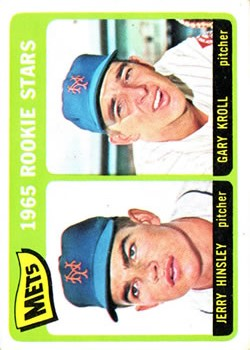 1965 Topps #449 Rookie Stars/Jerry Hinsley/Gary Kroll RC