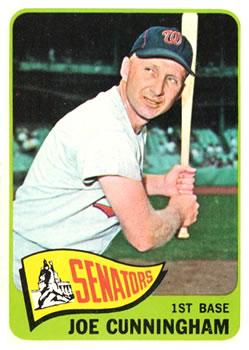 1965 Topps #496 Joe Cunningham