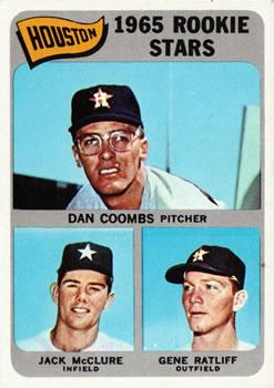 1965 Topps #553 Rookie Stars/Dan Coombs RC/Gene Ratliff RC/Jack McClure RC