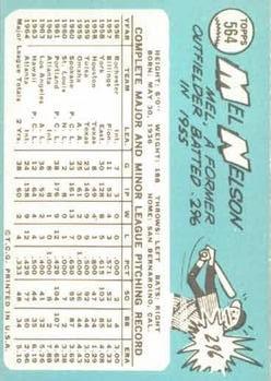 1965 Topps #564 Mel Nelson back image