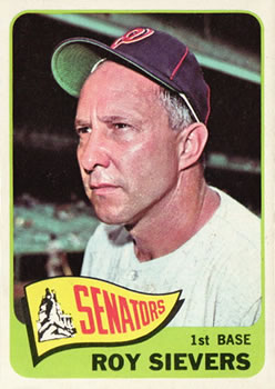 1965 Topps #574 Roy Sievers