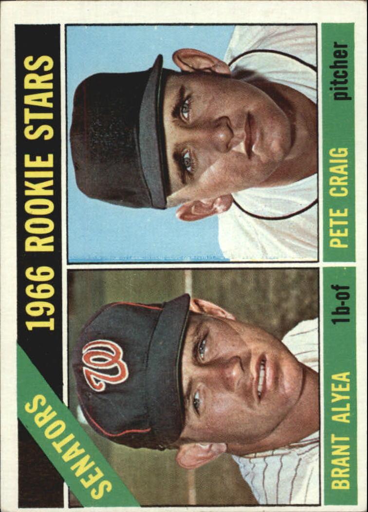 1966 Topps #11 Rookie Stars/Brant Alyea RC/Pete Craig