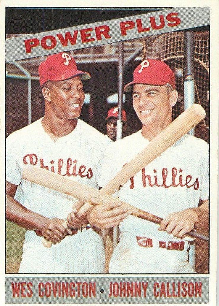 1966 Topps #52 Power Plus/Wes Covington/Johnny Callison