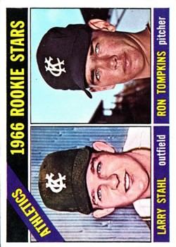 1966 Topps #107 Rookie Stars/Larry Stahl RC/Ron Tompkins RC