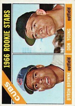 1966 Topps #139 Rookie Stars/Byron Browne RC/Don Young RC