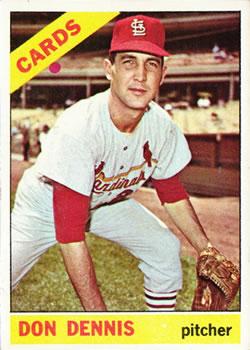 1966 Topps #142 Don Dennis RC