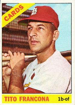1966 Topps #163 Tito Francona