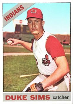 1966 Topps #169 Duke Sims RC
