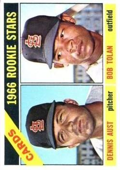 1966 Topps #179 Rookie Stars/Dennis Aust RC/Bob Tolan